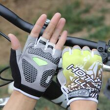 Fashion Breathable Bike Bicycle Cycling GEL Shockproof Sports Half Finger Gloves
