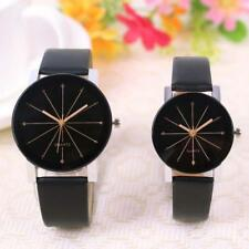 Womens Watches Lovers Men Leather Quartz Analog Wrist Watch Couple Watch