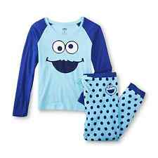 Sesame Street Cookie Monster 2pc Jersey Knit Pajama Top & Pants Adult sizes NWT