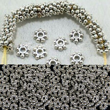 100pcs/400pcs New Findings Spacer Beads Daisy Jewelry Tibetan Silver 4mm/6mm