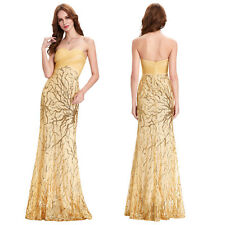 charming Strapless Sequined Evening Prom Party Dress Cocktail Pageant Long Dress