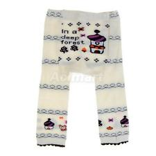 Cute Baby Infant Toddler Tights Leggings Socks Pants - Forest House Print S M L