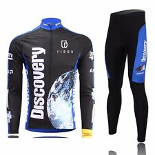 Discovery Cycling Jersey Sets Long Sleeve Bike Bicycle Kit jersey & Pant Winter