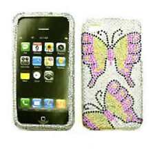 Cell Armor Snap-On Case for Apple iPhone 4G - Full Diamond Crystal, Two Butterfl