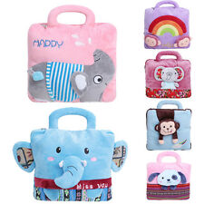 Cute Super Soft Flannel Cartoon Animal Design Pillow&Blanket Dual-use Easy Carry