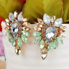 Lady Elegant  Earrings Jewelry Crystal Rhinestone Girls Women Ear Stud
