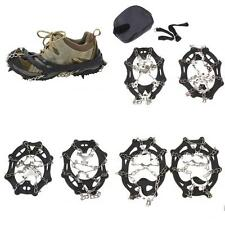 8-19 Teeth Ice/Snow Boot Shoe Spike Grip Chain Crampons Cleat Grippers Anti Slip