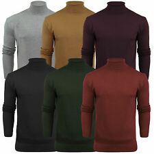 MENS LONG SLEEVE TURTLE NECK TOP MENS ROLL NECK POLO NECK JUMPER S-XL