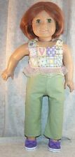 """Doll Clothes fits American Girl 18"""" inch Pant Set 2pcs Lavender Sage Green NEW"""