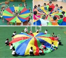 Vintage Kids Play Rainbow Parachute Outdoor Family Game Exercise Sport Toy 2/3M