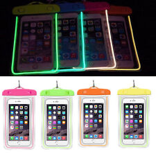 Luminous Glow Waterproof Bag Pack Swimming Dry Cell Mobile Phone Pouch Covers