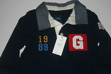 BABY GAP Infant Boys Rugby Navy Blue One-Piece Romper 6 12 18 NEW NWT 1989