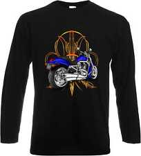 Longsleeve Shirt in black with Harley Davidson Motorcycle print V Rod