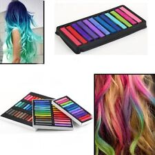 6 12 24 32 Colors Non-toxic Temporary Hair Chalk Dye Soft Pastels Salon Kit AU