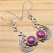 925 Silver Plated DESIGNER Earrings ! PURPLE COPPER TURQUOISE & More Variation