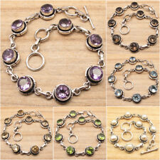 925 Silver Plated MOONSTONE & More Stones CHOICES Variation Bracelet New