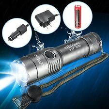 Elfeland 6000LM T6 LED Rechargeable Flashlight Torch 18650 Battery +Charger