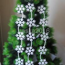 Set of 3 Foam Tree/Snowflake/Bell Christmas Tree Hanging Ornaments