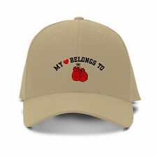 MY HEART BELONGS TO BOXING Embroidery Embroidered Adjustable Hat Baseball Cap