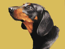 Portrait of Black Brown Dog Head Needlepoint Canvas 312