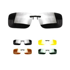 Clip-on Polarized Day Night Vision Lens Driving Glasses Sunglasses New