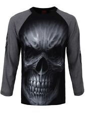 Spiral Death Rage Charcoal Raglan T-Shirt Men's Black Long-sleeve T-Shirt