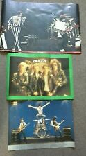 3 x Large Queen Wall Posters Freddie Mercury late 1970's early 1980's