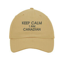 Keep Calm I Am Canadian Embroidered Soft Unstructured Hat Baseball Cap