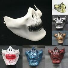 Half Face Skull Skeleton Mask Party Scary Halloween Costume Outdoor 7 Types
