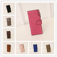 Women's Clutch Long Evenning Purses Wallets Synthetic Leather Pouch Card Holder