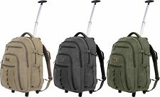 Wheeled Rolling Canvas Travel Backpack