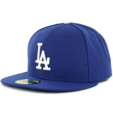 Los Angeles LA DODGERS GAME RoyalBlue New Era 59FIFTY Fitted Cap MLB OnField Hat
