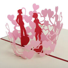 3D Pop Up Greeting Card Invitation Birthday Valentine New Year Wedding Thank You