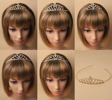 PACK OF 3 CRYSTAL DESIGN FULL TIARAS, WEDDING, BRIDE, PROM, PAGEANT, SHOW, DANCE