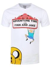 Adventure Time Finn & Jake At The Movies Men's White T-shirt