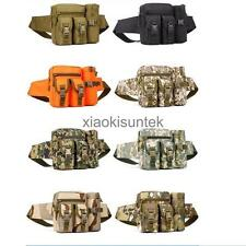 Unisex Tactical Waist Belt Bag Fanny Pack w/ Water Bottle Pocket Cycling Hiking