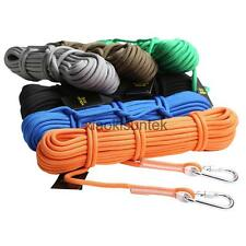 20M 12KN Climbing Rappelling Rope Accessory Cord Safety Rescue Sling Carabiners