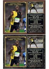 Usain Bolt Record 9 Gold Medals Triple-Triple Photo Plaque Rio 2016 Olympics