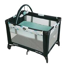 Pack and Play Travel Play Yard w/Bassinet Mobile Baby Portable Crib Furniture