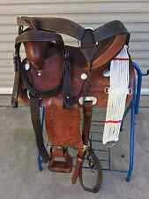 """15"""" NEW TAN TOOLED LEATHER WESTERN PLEASURE SADDLE  PACKAGE GREAT BUY"""