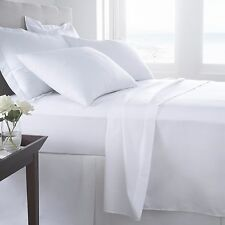 Hypoallergenic 100% Egyptian Cotton Flat Sheet Solid 600 Thread Count