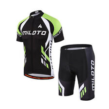 MILOTO Cycling Jersey Bike Short Sleeve Bib Shorts Set Bicycle Clothes Sport SET