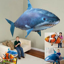 Air Swimmer Remote Control RC Flying Inflatable Fish Shark Blimp Balloon Gifts K
