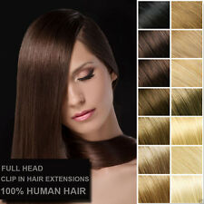 Pure Remy Soft Human Hair Clip in Hair Extensions Natural Smooth Human Hair US
