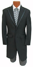 Long Black Savoy Cutaway Tuxedo Morning Coat Dickens Christmas Western Tails