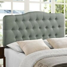 NEW Twin Full Queen King Upholstered Headboard Frame Mounted Bed Tufted Gray