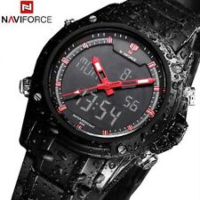 Men's Digital LED Date Day Stainless Steel Sport Alarm Quartz Analog Wrist Watch