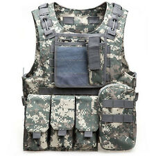 Tactical Military Police Airsoft Molle Combat Assault Plate Carrier Vest