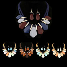 Women New Teardrop  Bib  Jewelry pendant Necklace  Hot Fashion Necklace chain