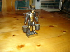 "VINTAGE HUMMEL MORS ""MAN CARRYING WATER"" SMALL BRONZE TONE FIGURE VERY NICE"